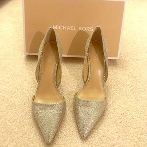 Michael Kors silver pumps